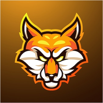 Foxes kopf maskottchen logo