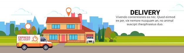 Fracht minivan lieferung transport paket pakete geo tag ziel transport