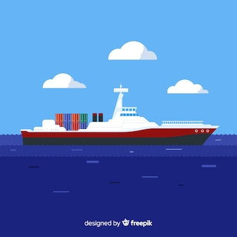 Frachtschiff-marinetechnikkonzept