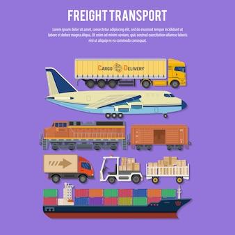 Frachttransport und verpackung