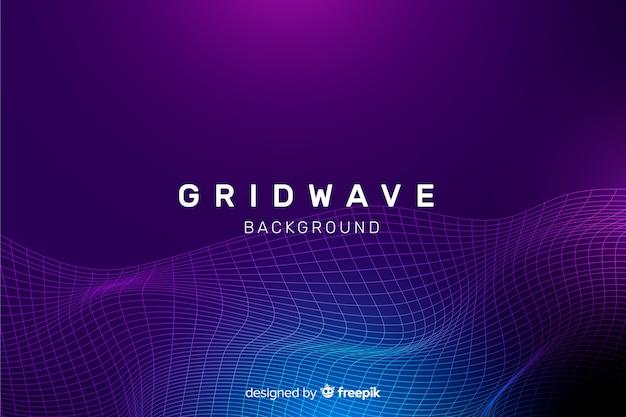 Fractal grid wave hintergrund