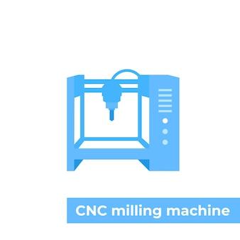 Fräsmaschine, cnc-vektorillustration
