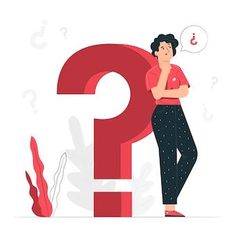 Fragen konzept illustration
