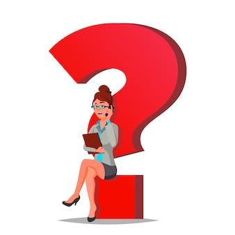 Fragezeichen business woman