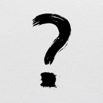 Fragezeichen-zeichen-pinselstrich-trash-stil-typografie-vektor