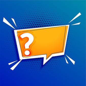 Fragezeichenvorlage mit textraumgestaltung
