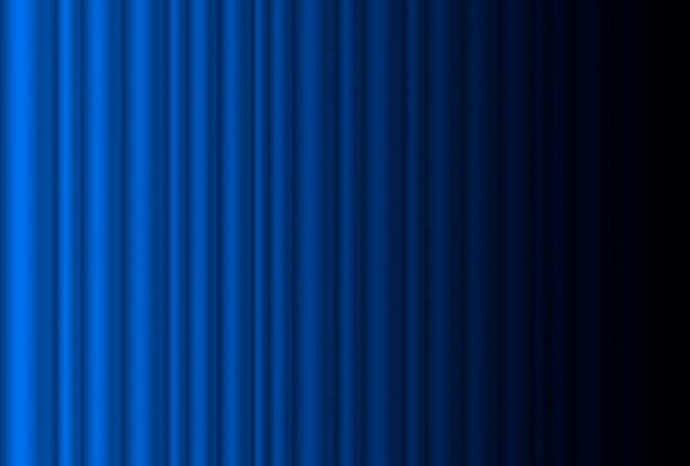 Fragment dunkelblauer bühnenvorhang