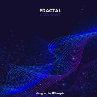 Fraktale Welle Hintergrund