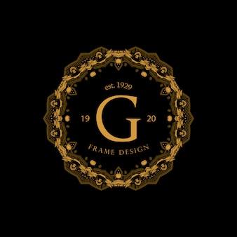 Frame luxury mit goldener farbe