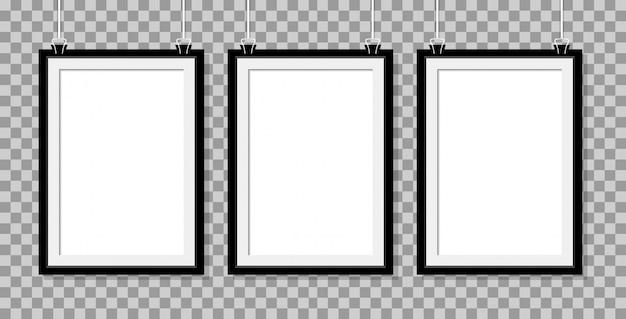 Frame realistische drei poster