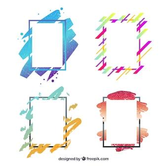 Frames-sammlung in verlaufsfarben