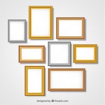 Frames sammlung mit farbverlauf