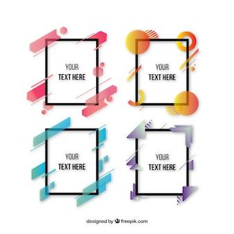 Frames-sammlung mit farbverlaufsformen