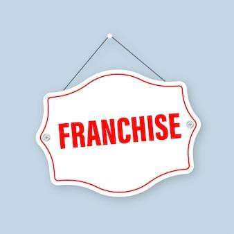 Franchise-stempel für marketing-werbedesign