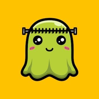 Frankenstein geformtes süßes geisterdesign