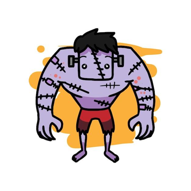 Frankenstein hand gezeichneter vektor