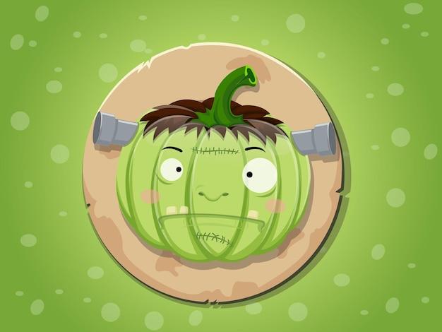 Frankenstein-kürbis-symbol vektor, hintergrund