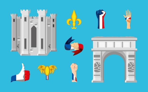 Frankreich architekturflagge