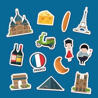 Frankreich-aufkleber