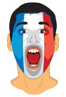 Frankreich fan gesicht