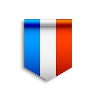 Frankreich flagge. band.