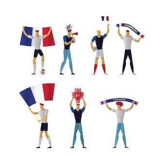 Frankreich fußballfans fröhlicher fußball