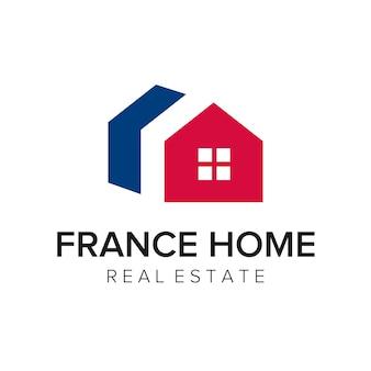 Frankreich home logo symbol vektor vorlage