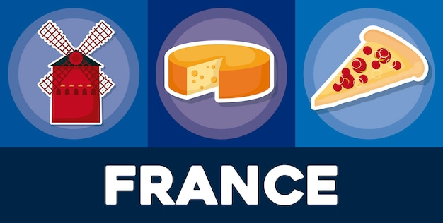 Frankreich-icon-set