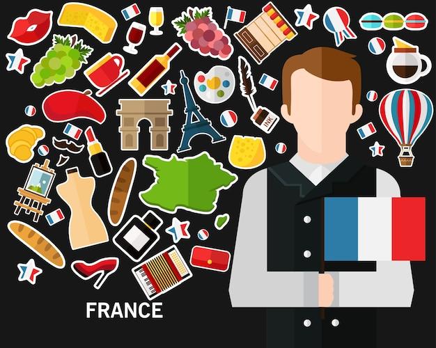 Frankreich-konzept hintergrund