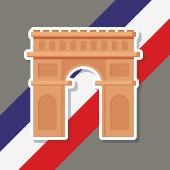 Frankreich kultur mit triumphbogen