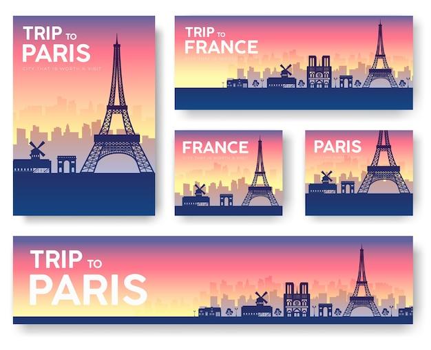 Frankreich landschaftsbanner gesetzt