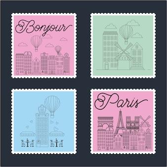 Frankreich platziert briefmarken