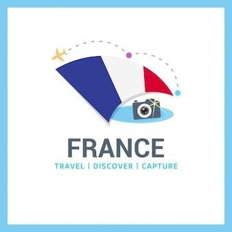 Frankreich travel logo