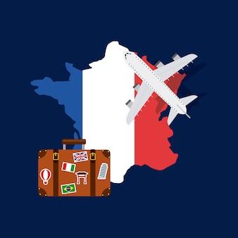 Frankreich und reisedesign