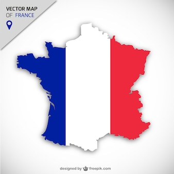 Frankreich vektorkarte Premium Vektoren
