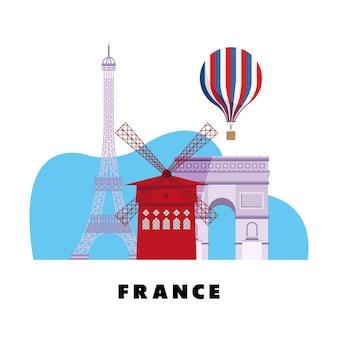Frankreichs wahrzeichen traditionals