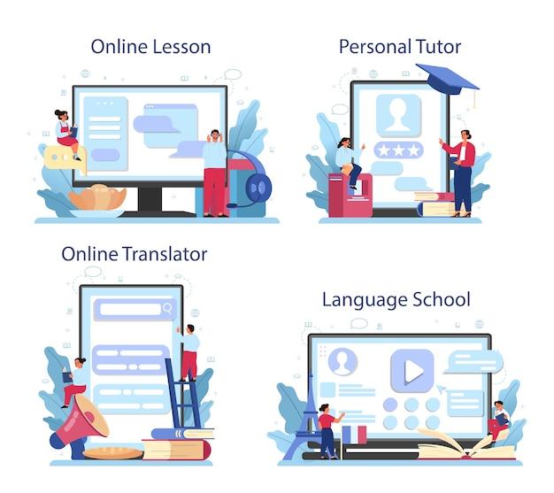 Französisch lernen online-service oder plattform-set