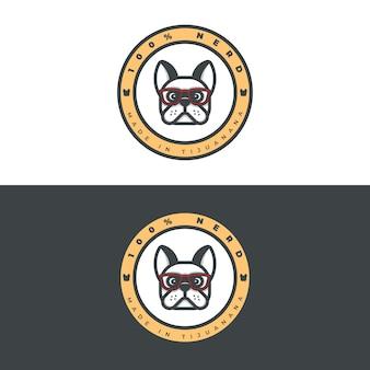 Französische bulldogge kleidung logo