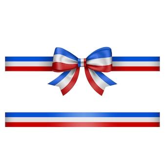 Französische dreifarbige schleife und band