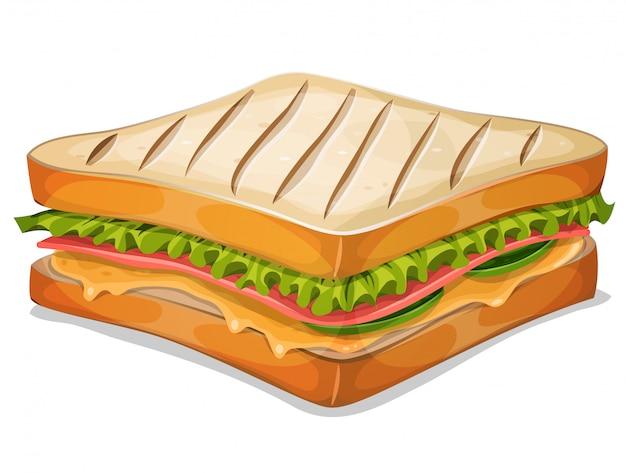Französische sandwich-ikone