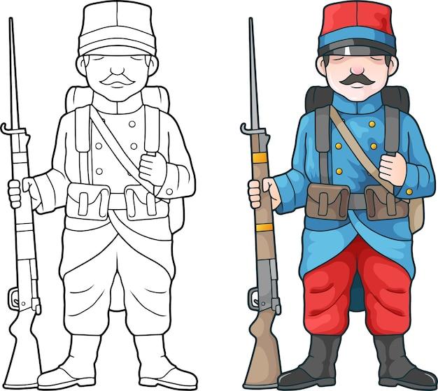 Französischer soldat, weltkrieg