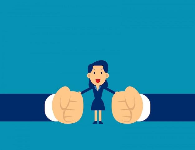 Frau aufhören konflikt. aufhören zu kämpfen