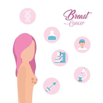 Frau brustkrebs unterstützung und behandlung