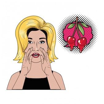 Frau, die ein geheimnis mit spracheblase sagt