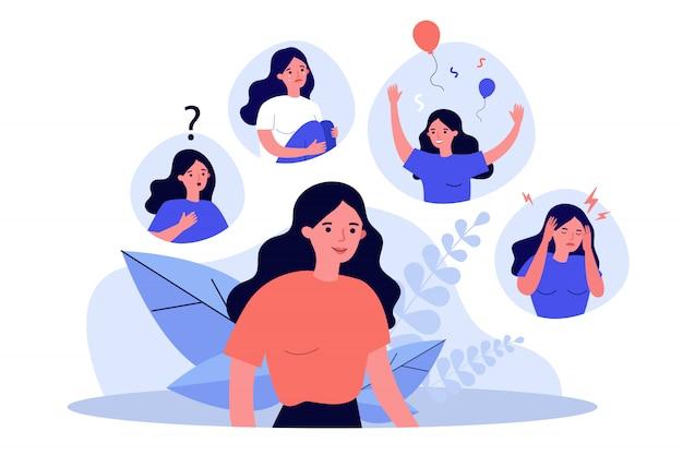 Frau, die unter stimmungsschwankungen leidet