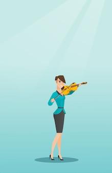Frau, die violine spielt