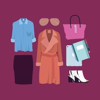 Frau formale outfits-sammlung
