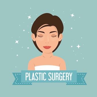 Frau im plastischen chirurgieprozess