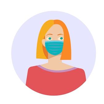 Frau in gesichtsmaske medizinische maske atemschutzgerät coronavirus und pandemiesicherheit
