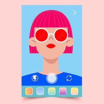 Frau mit einem instagram-filter